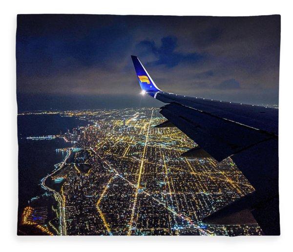 Above Chicago Fleece Blanket