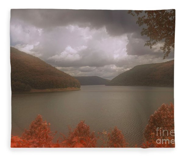 Above The Kinzua Dam Fleece Blanket