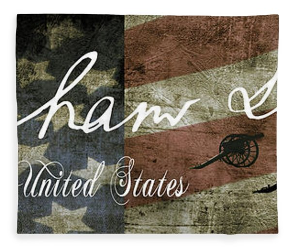 Abraham Lincoln Civil War Tribute Panel Fleece Blanket