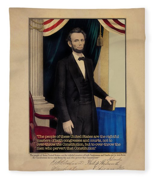 Abraham Lincoln Fleece Blanket
