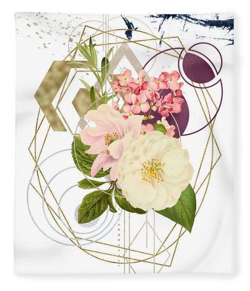Fleece Blanket featuring the digital art Abstract Dream by Bee-Bee Deigner