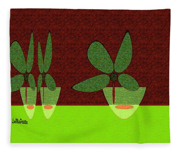 Abstract Floral Art 385 Fleece Blanket