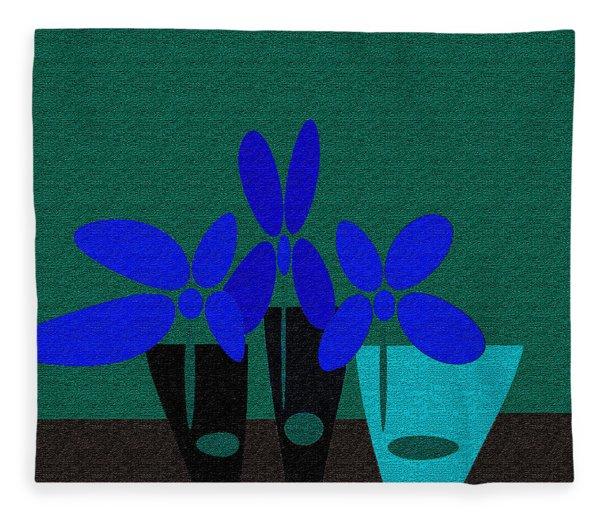 Abstract Floral Art 392 Fleece Blanket
