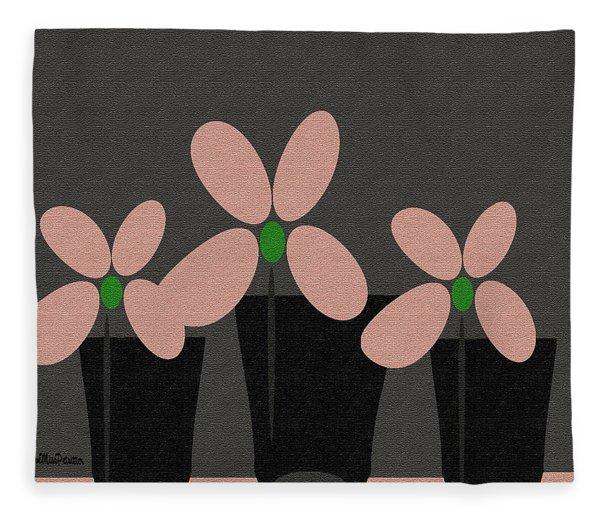 Abstract Floral Art 394 Fleece Blanket