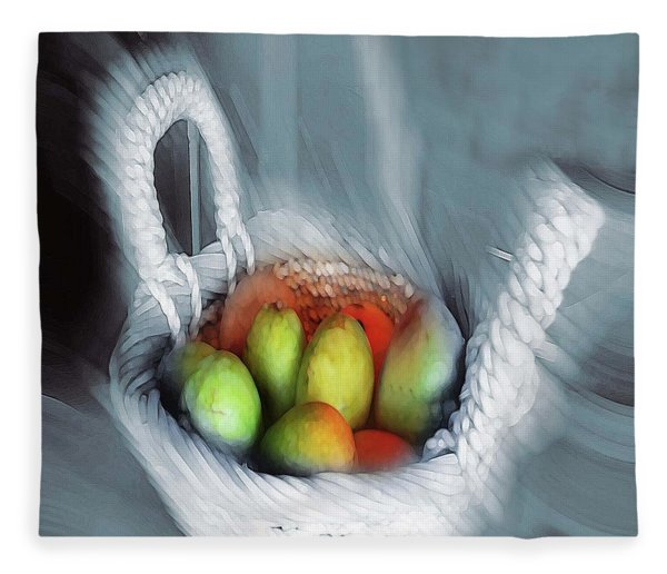 Abstract Fruit Art   104 Fleece Blanket