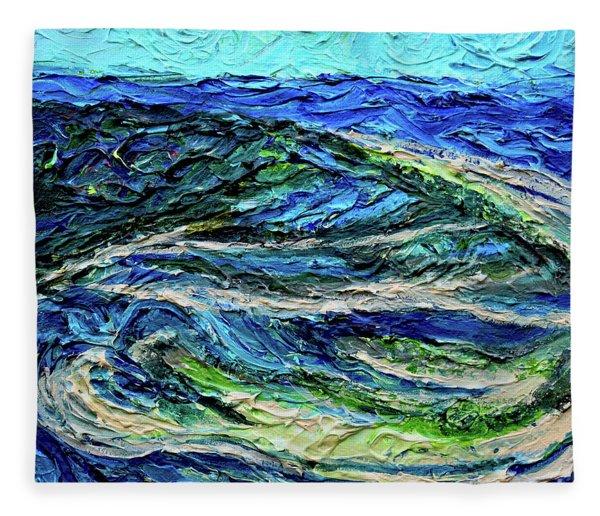 Aerial View Of Presque Isle Lake Erie Fleece Blanket