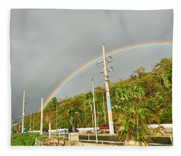 Aguadilla Rainbow Fleece Blanket