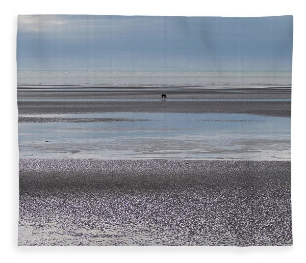 Alaska Brown Bear On The Shore Fleece Blanket