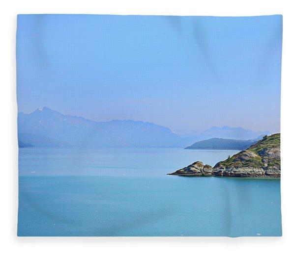 Alaska Fjords Fleece Blanket