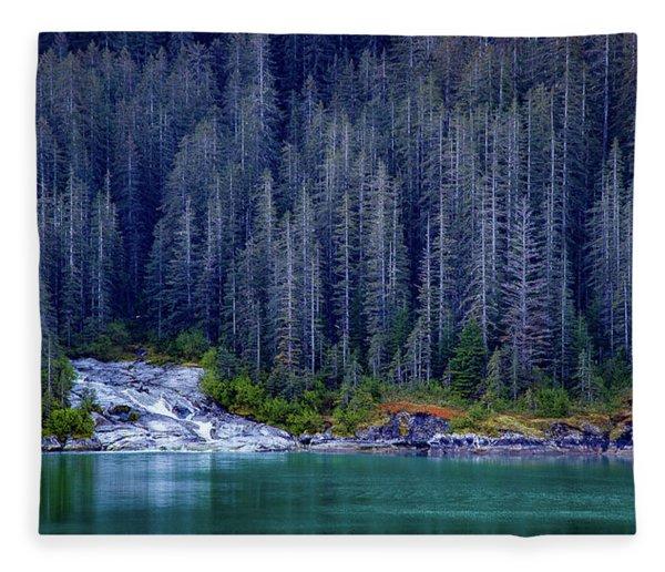 Alaskan Coastline Beauty Fleece Blanket