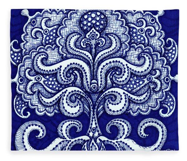 Alien Bloom 2 Fleece Blanket