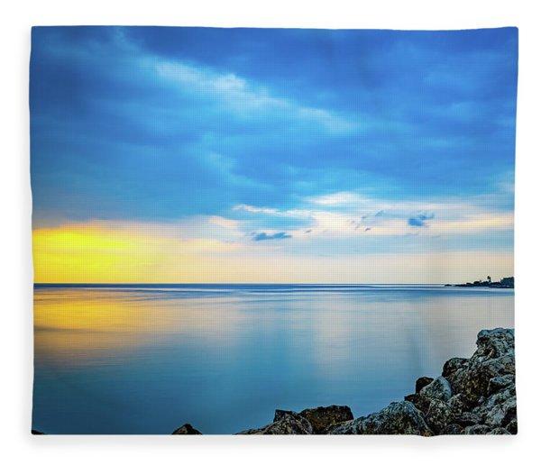 Almost Sunset Fleece Blanket