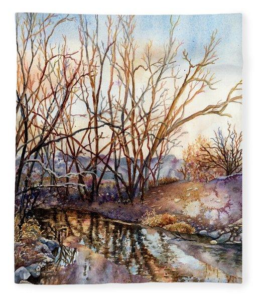 Along Boulder Creek Fleece Blanket