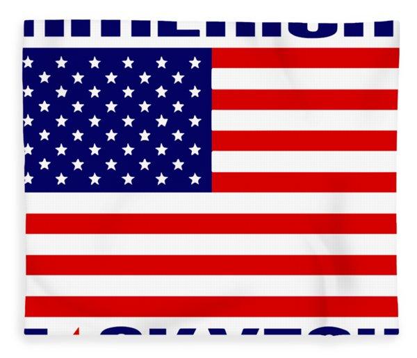 America Fck Yeah 4th Of July Patriotic Celebration America Veteran Fleece Blanket