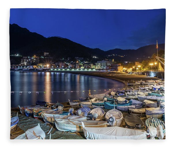 An Evening In Levanto Fleece Blanket