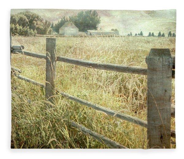 Another Fence Fleece Blanket
