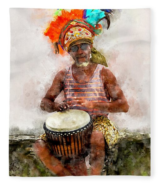 Antiguan Drummer Fleece Blanket