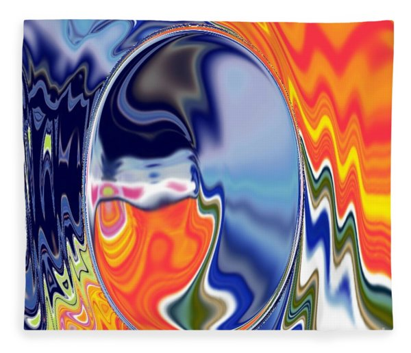 Fleece Blanket featuring the digital art  Ooo by A z akaria Mami