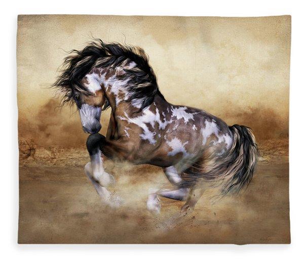 Wild And Free Horse Art Fleece Blanket