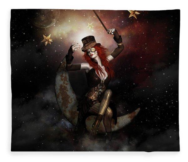 Maestro Steampunk Fleece Blanket