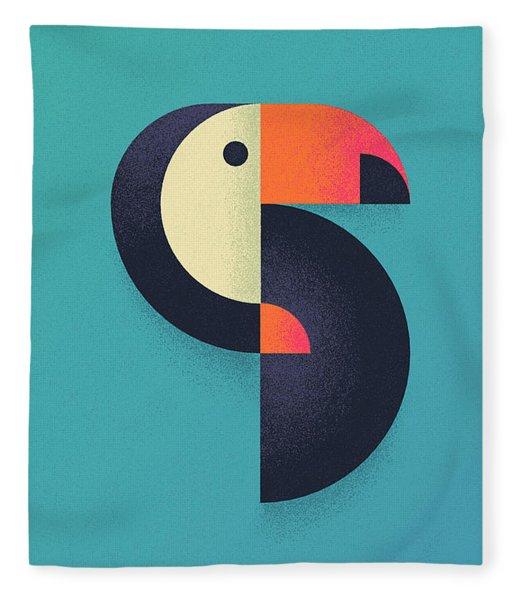 Toucan Geometric - Single Fleece Blanket