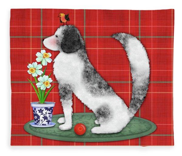 N Is For Newfoundland Dog Fleece Blanket