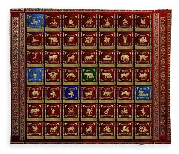 Standards Of Roman Imperial Legions - Legionum Romani Imperii Insignia Fleece Blanket