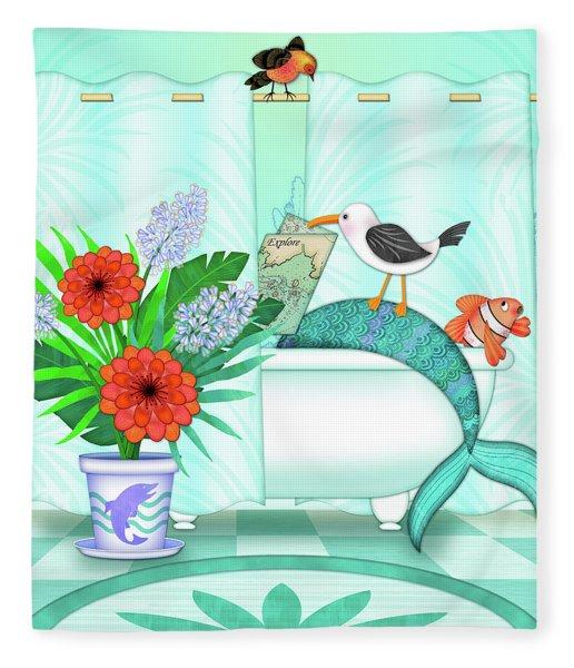 A Mermaid Moment Fleece Blanket