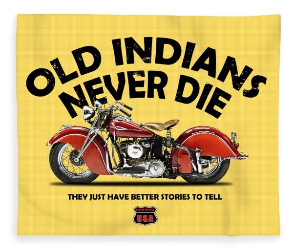 Old Indians Never Die Fleece Blanket