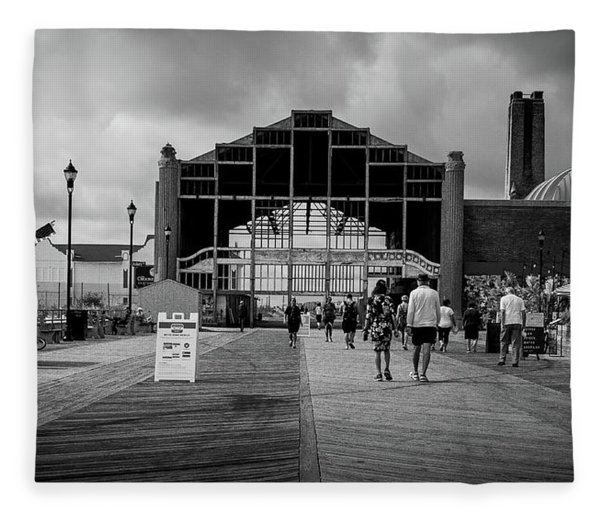 Asbury Park Boardwalk Fleece Blanket
