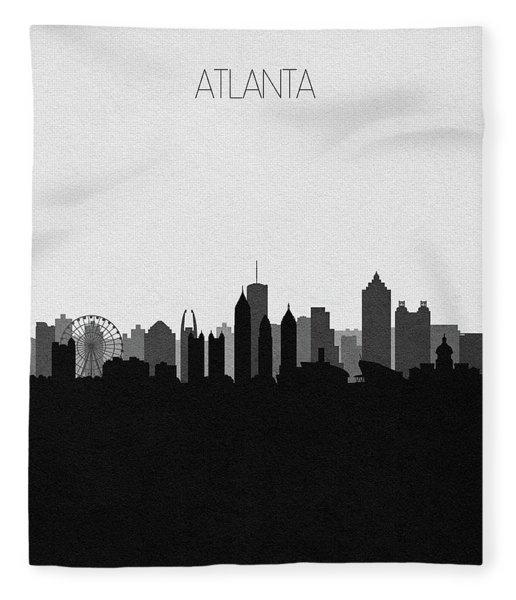 Atlanta Cityscape Art V2 Fleece Blanket