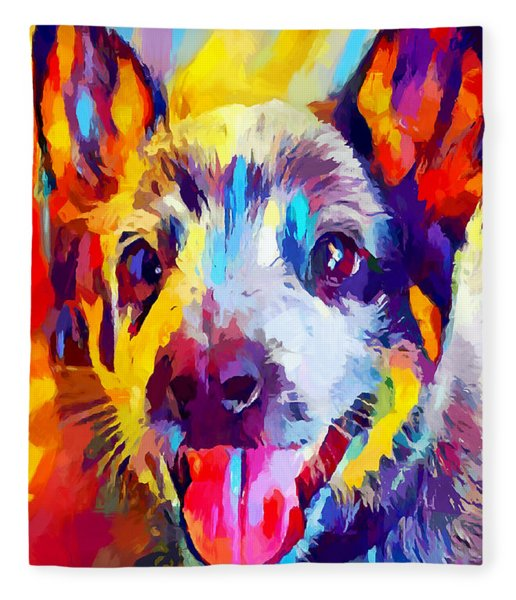 Australian Cattle Dog 3 Fleece Blanket