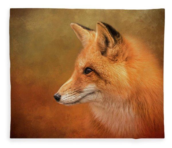 Autumn Fox Fleece Blanket
