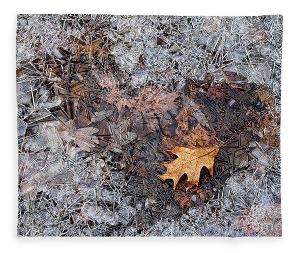 Autumn Freezing Over Fleece Blanket