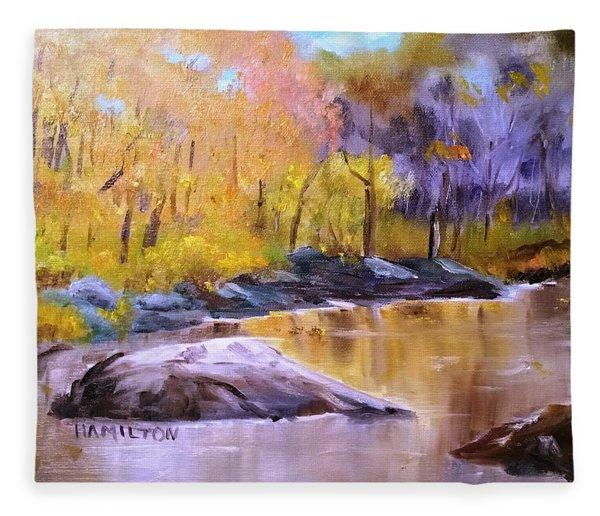 Autumn In New Hampshire Fleece Blanket