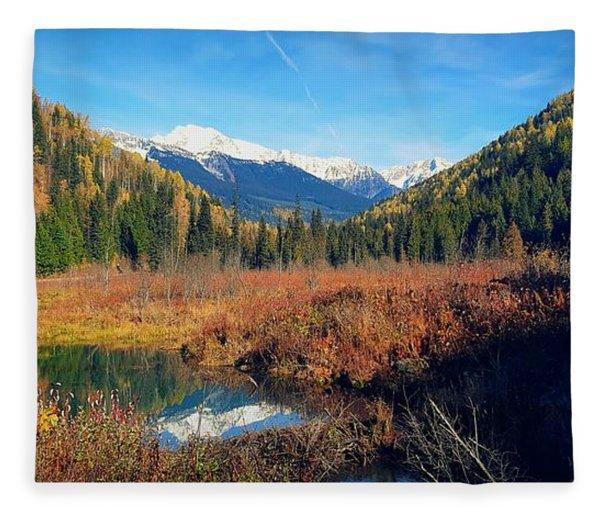Autumn In The Kootenays Fleece Blanket