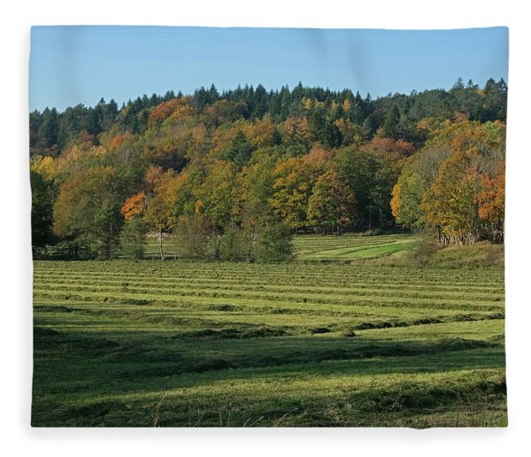 Autumn Scenery Fleece Blanket