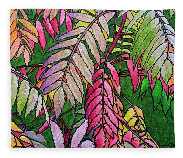 Autumn Sumac Fleece Blanket