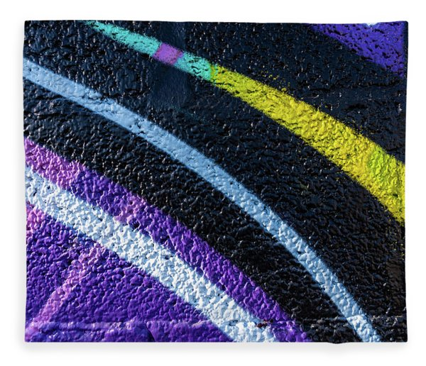 Background With Wall Texture Painted With Colorful Lines. Fleece Blanket