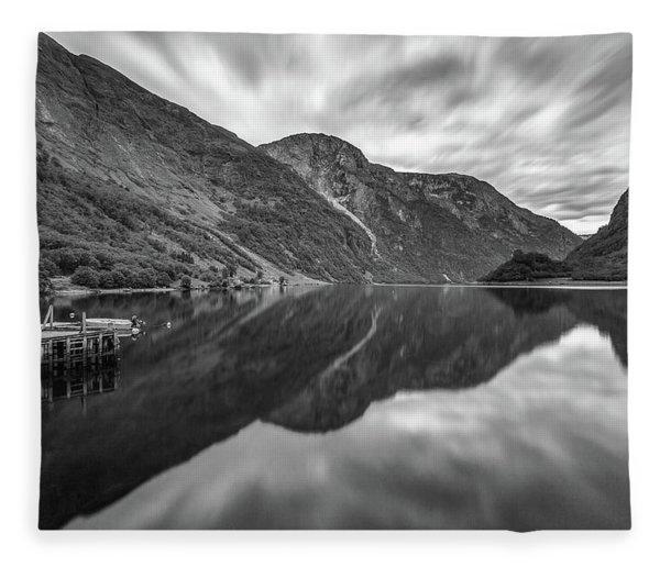 Bakka, Naerofjord, Norway Fleece Blanket