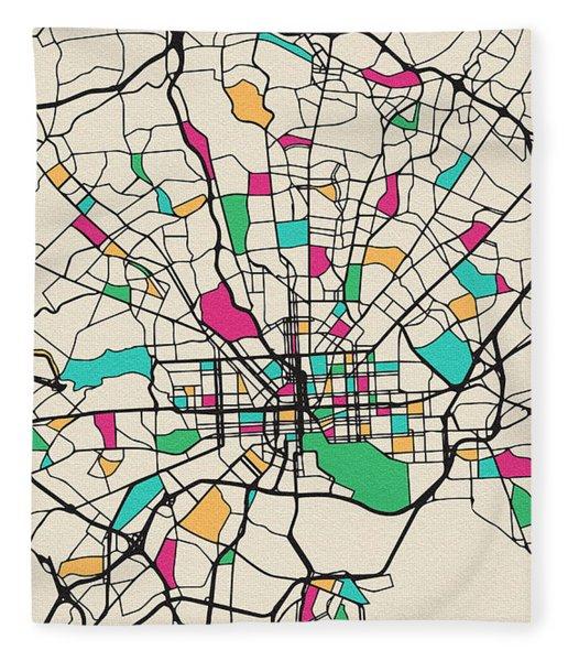 Baltimore, Maryland City Map Fleece Blanket