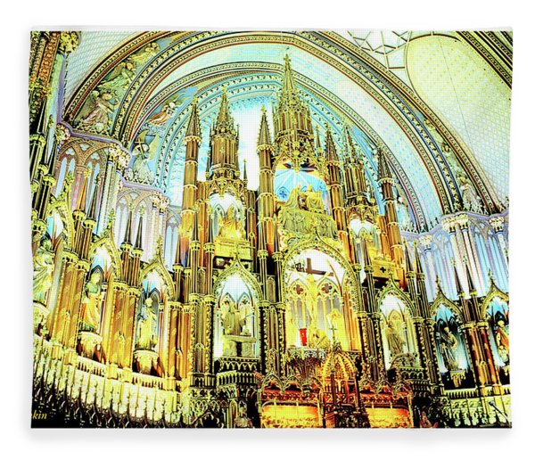 Basilica Of Notre Dame Montreal Quebec Fleece Blanket
