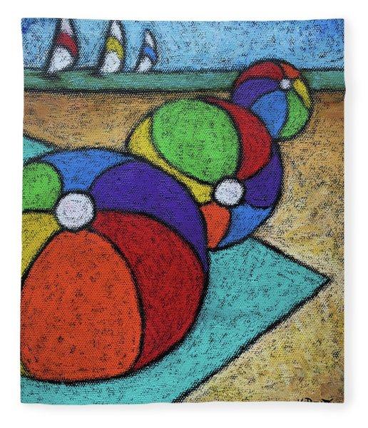 Beach Balls Three Fleece Blanket