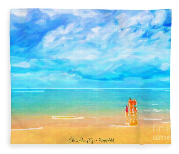 Beach Blues II Fleece Blanket