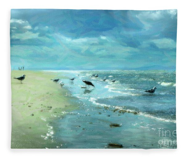 Beach Blues IIi Fleece Blanket