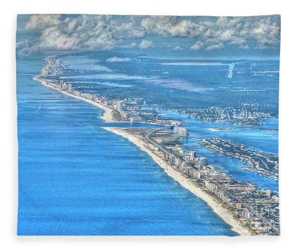 Beachmiles-5137-tonemapped Fleece Blanket