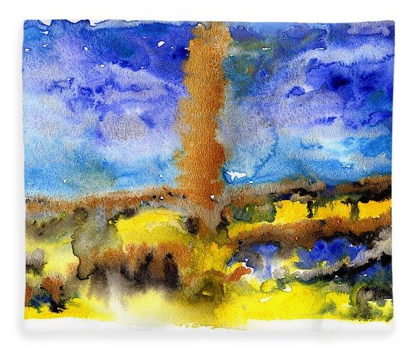 Fleece Blanket featuring the painting Beam Of Light by Bee-Bee Deigner