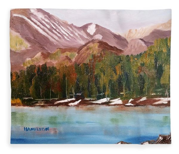 Bear Lake And The Keyboards Fleece Blanket