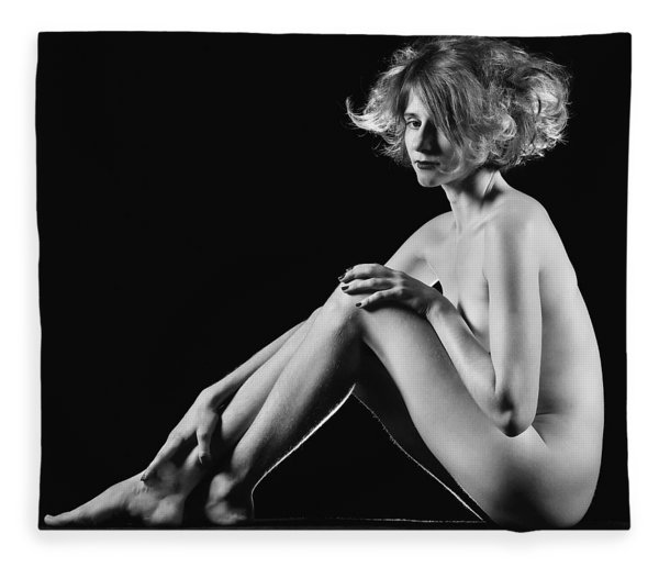 Beautiful Nude Woman Fineart Style Fleece Blanket