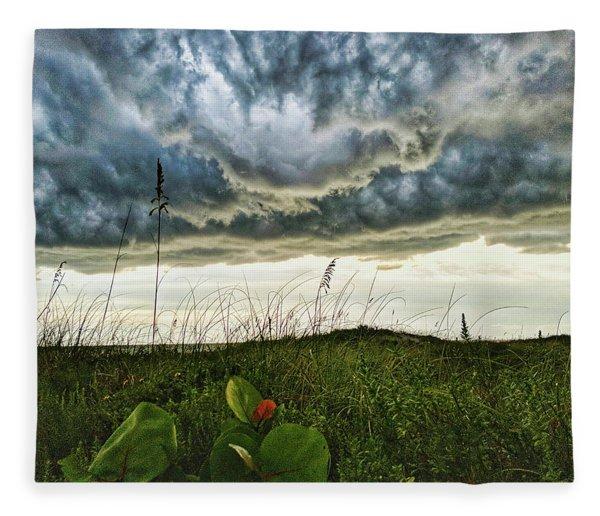 Beautiful Storm Fleece Blanket